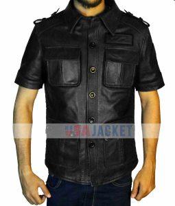 Final Fantasy 15 Gladiolus Amicitia Black Leather Jacket