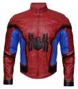 Spiderman Homecoming Red And Black Leather Jacket