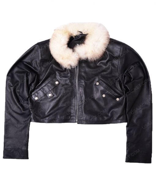 Squall Leonhart Fur Collar Leather Jacket