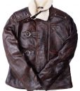 Distressed Brown Leather Jacket