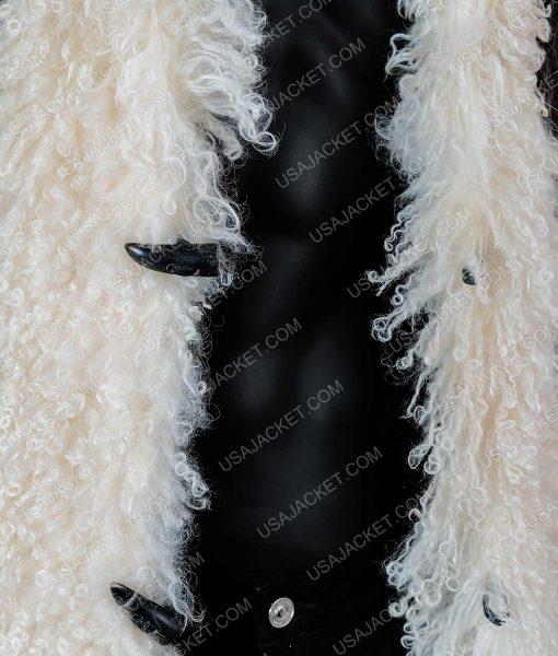 Vin Diesel Brown Long Leather Fur Coat