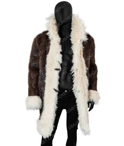 Vin Diesel Brown Shearling Coat