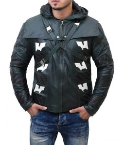 Josh Segarra e Arrow Prometheus Hooded Leather Jacket
