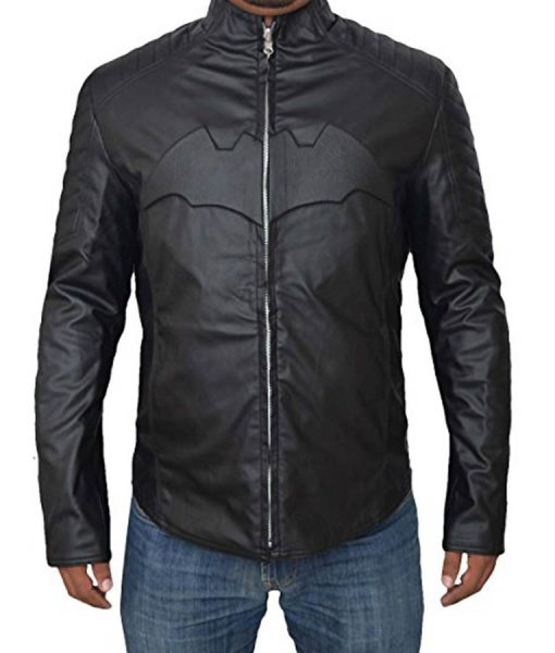 Black Batman And Blue Superman Leather Jacket
