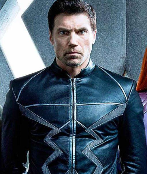 Inhumans Black Bolt Leather Coat