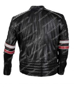 Vintage Café Racer Retro Motorcycle Distressed Leather Jacket