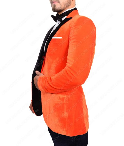 Kingsman The Golden Circle Smoking Orange Tuxedo Jacket