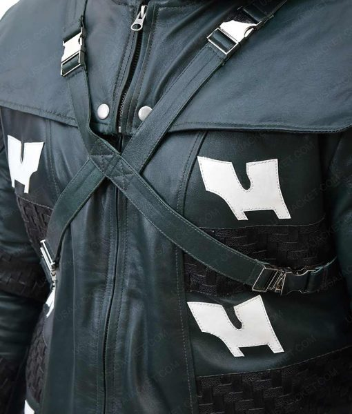 Josh Segarra Adrian Chase Hooded Leather Jacket