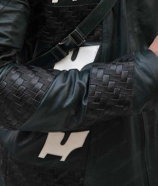 Josh Segarra Arrow Prometheus Hooded Leather Jacket