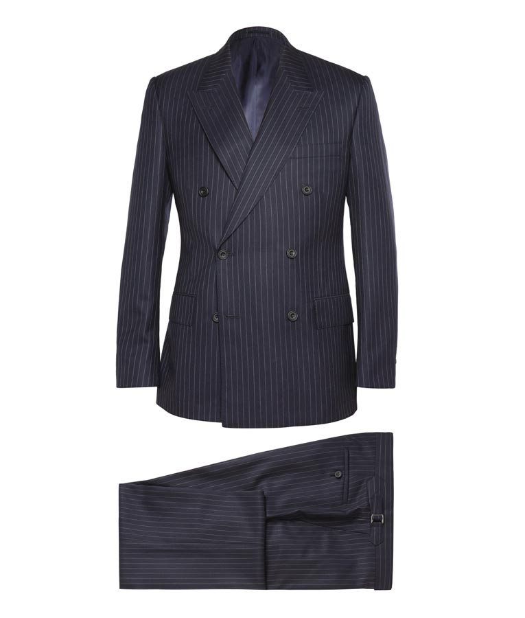 Kingsman Eggsy Double Breasted Pinstripe Suit - USA Jacket