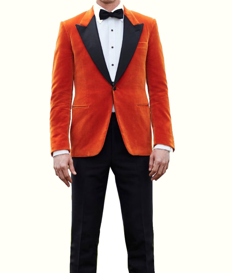 1a57613069e4 Kingsman The Golden Circle Eggsy Orange Tuxedo Jacket Suit