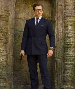 Kingsman The Golden Circle Double Breasted Pinstripe Suit