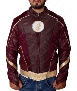 The Flash Season 4 Costume Leather Jacket