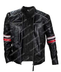 Distressed Café Racer Retro Biker Jacket