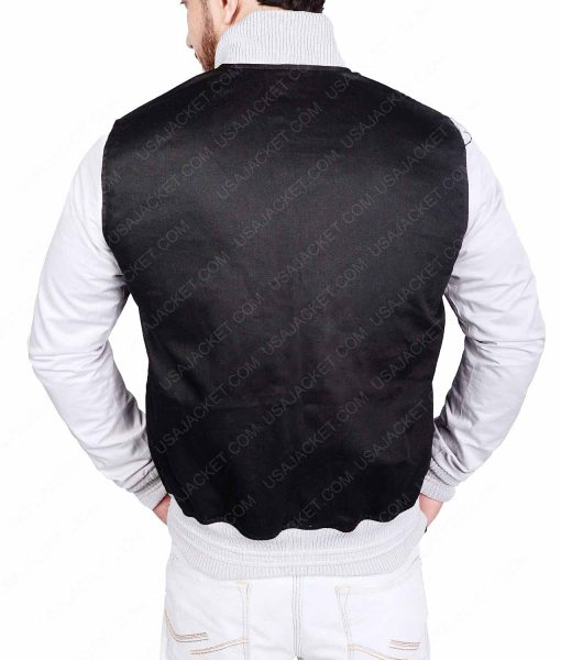 White Sleeves Black Varsity Jacket