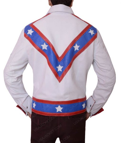 Evel Knievel Daredevil Stuntman Leather Jacket