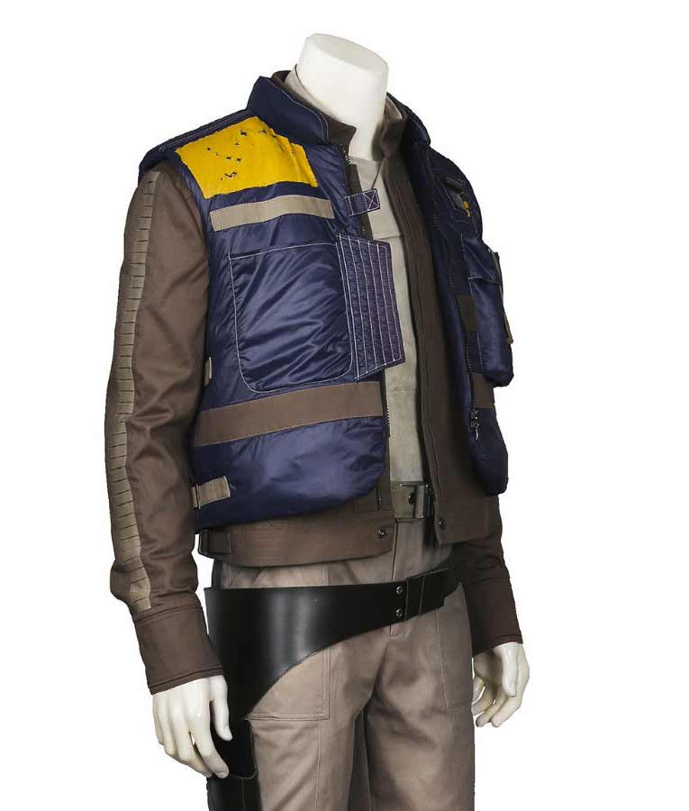 How To Become A Doctor In Usa >> Star Wars Rogue One Captain Cassian Andor Blue Vest - USA ...