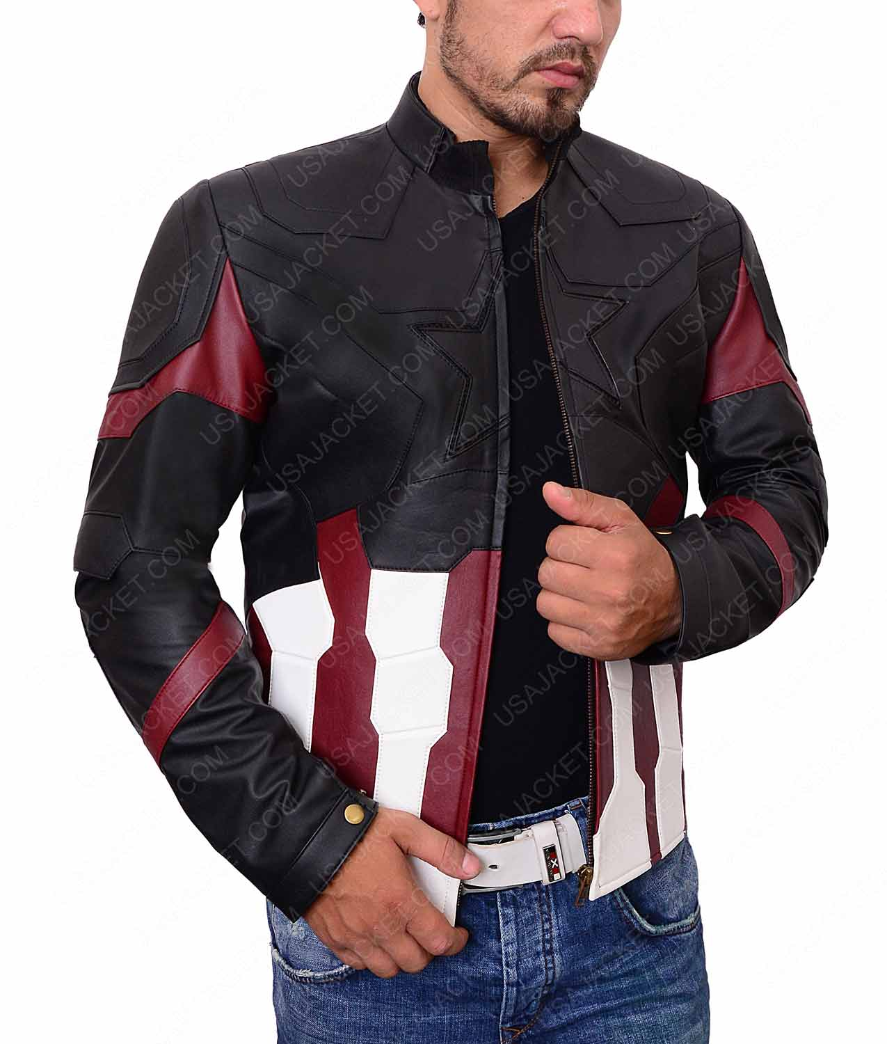 db44f204a Captain America Avengers Infinity War Leather Jacket