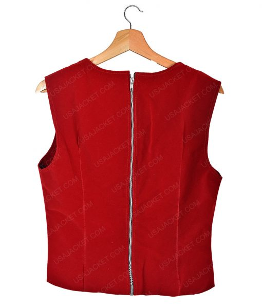 Civil War Scarlet Witch Elizabeth Olsen Leather Coat With Vest