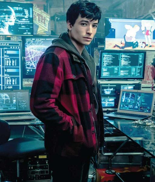 Ezra Miller Justice League Red Jacket