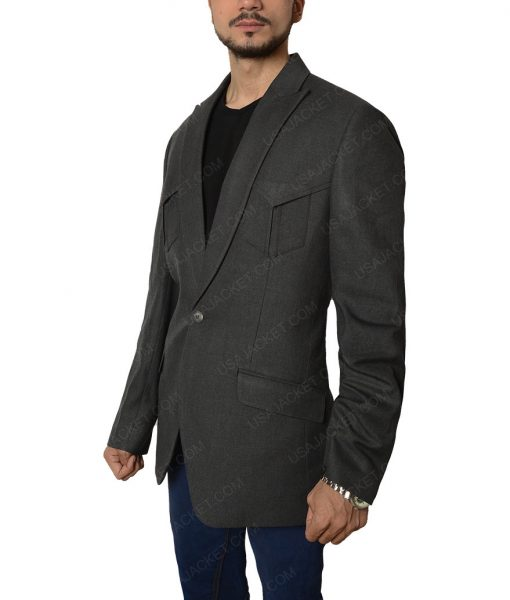 Jeff Bridges Agent Champagne Kingsman The Golden Circle Blazer Jacket