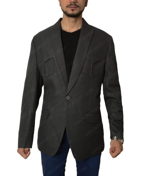 Jeff Bridges Agent Champagne Kingsman The Golden Circle Grey Blazer Jacket
