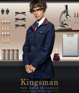 Halle Berry Kingsman The Golden Circle Ginger Ale Parachute Coat
