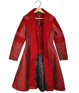 Civil War Scarlet Witch Elizabeth Olsen Leather Coat