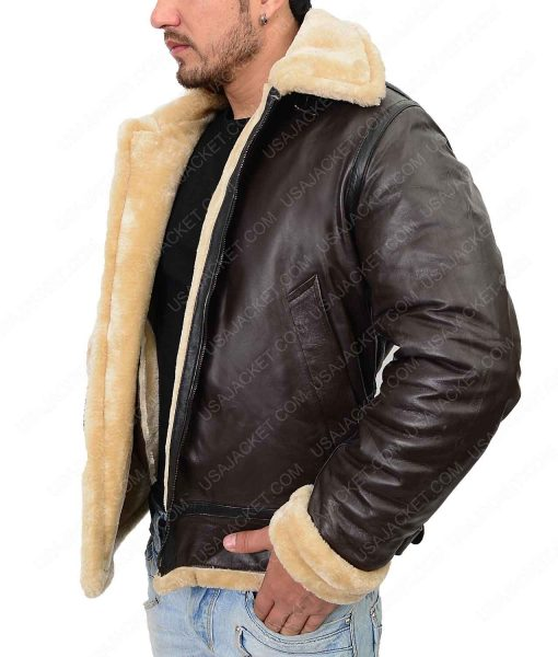 Farrier Dunkirk Tom Hardy Flight Shearling Jacket
