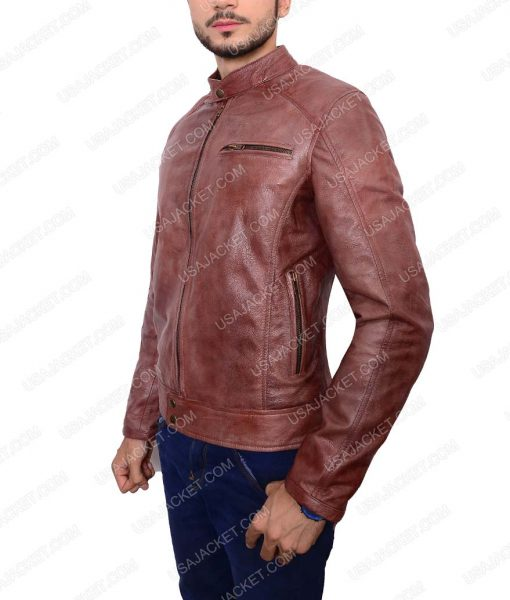 Scott Eastwood Overdrive Brown Leather Jacket