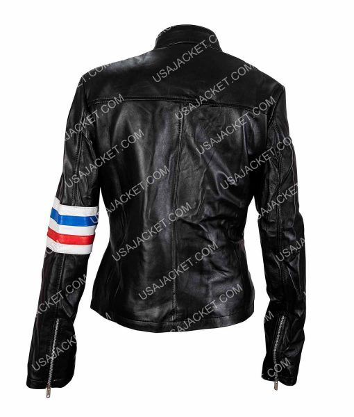 Eliza Coupe Tiger Motorcycle Leather Jacket