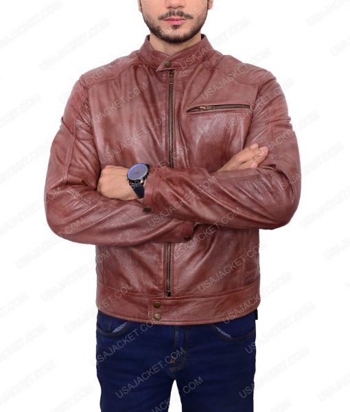 Andrew Foster Brown Leather Jacket