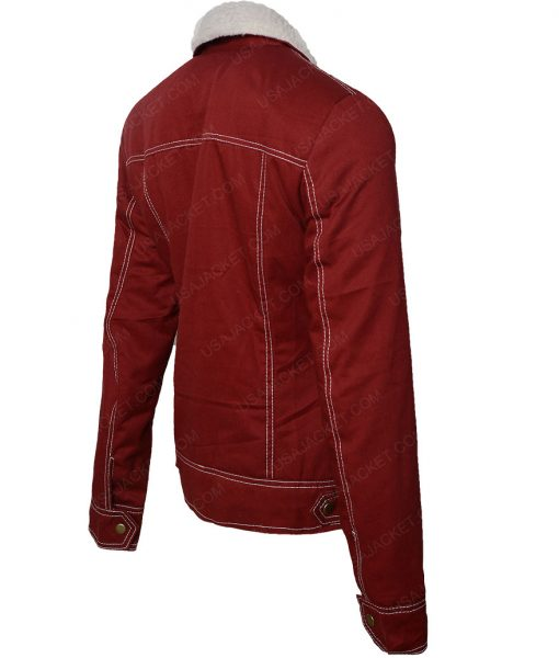 Nancy Wheeler Corduroy Fur Jacket