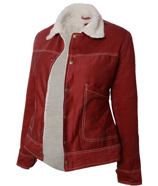 Stranger Things Natalia Dyer Corduroy Fur Jacket
