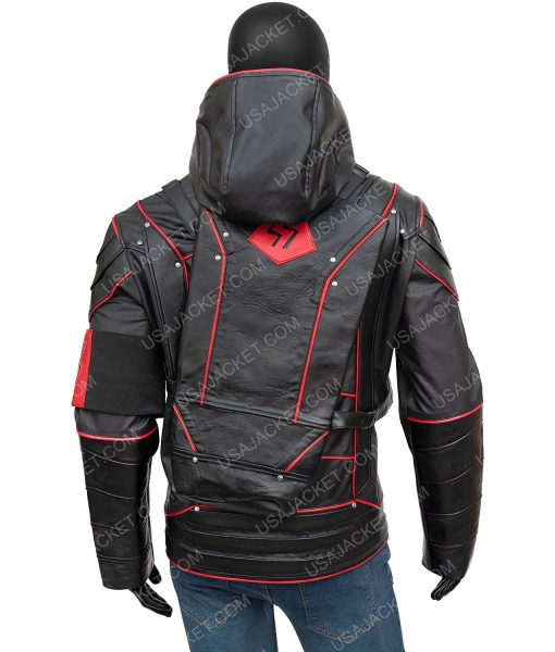 Arrow Crisis On Earth-X Stephen Amell Dark Arrow Hooded Jacket With Quiver