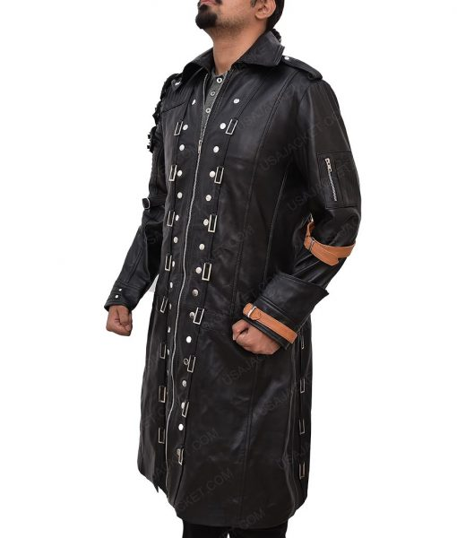 Battlegrounds Playerunknowns Black Leather Trench Coat