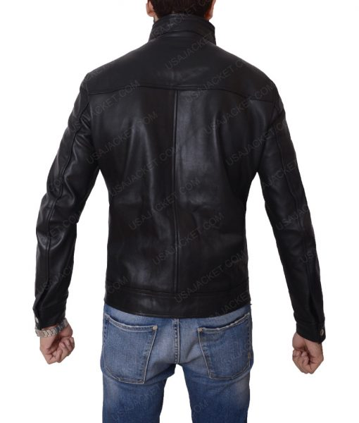 Mens Black Slimfit Jacket