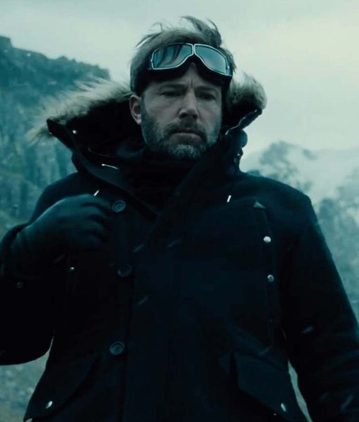 Batman Black Parka Jacket in Justice League