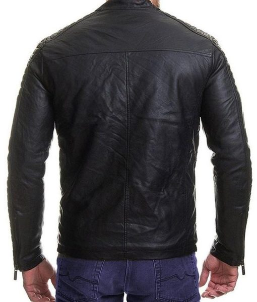 Mens Padded Slimfit Black Jacket
