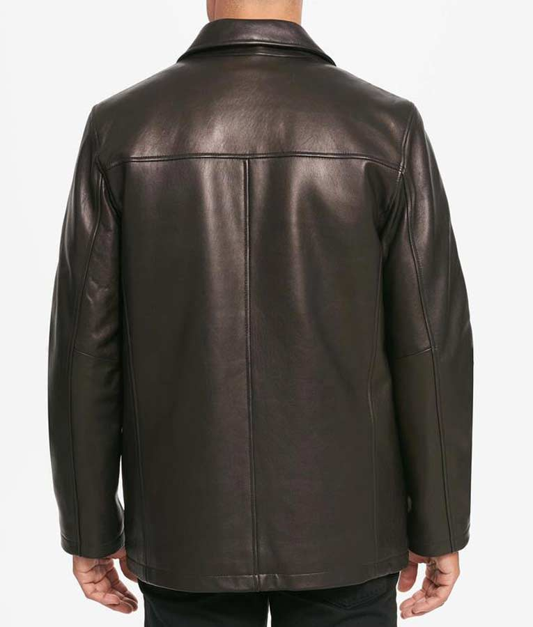 Casual Mens Black Leather Shirt Style Collar Jacket - USA ...