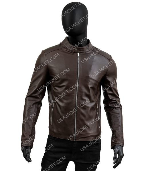 Mens Chocolate Brown Standard Casual Jacket