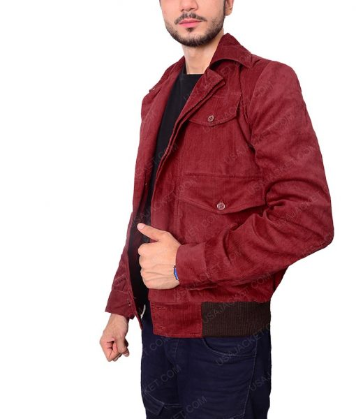 The Shining Corduroy Red Velvet Jacket