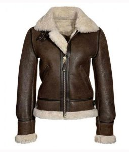 Brown Aviator Jacket For Women