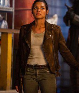Sgt. Noma Walker Brown Leather Jacket