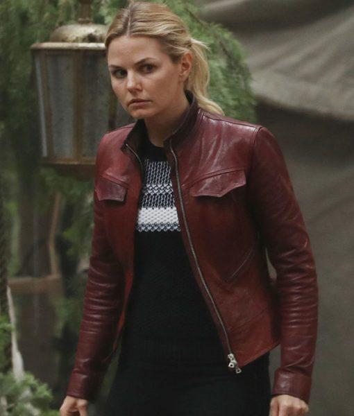 Jennifer Morrison Once Upon A Time Red Leather Jacket