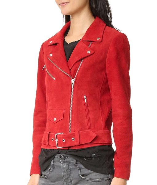 Emma Swan Jennifer Morrison Red Wool Blend Jacket