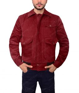 Corduroy Red Velvet Jacket
