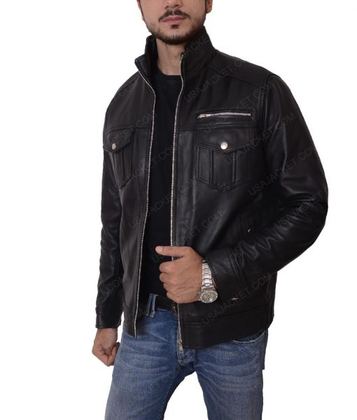 Casual Black Slimfit Jacket