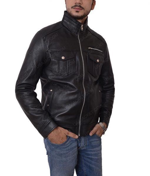 Mens Black Casual Jacket
