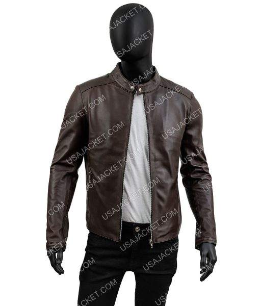 Mens Casual Chocolate Brown Jacket